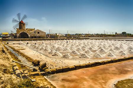 trapani: The Salt Flats of Trapani, Sicily, Italy