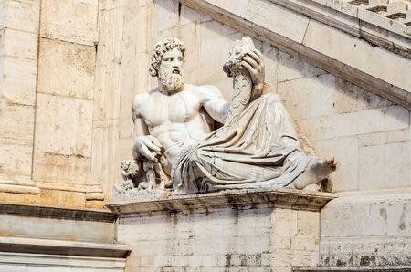 allegoric: Allegoric Statue of Tiber River, Rome