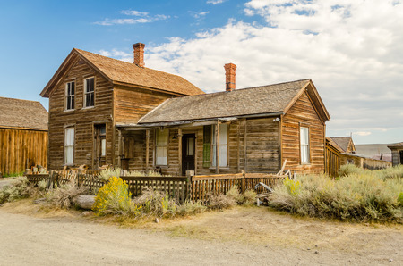 western town: Ghost Western Town in Bodie, California, USA Editorial