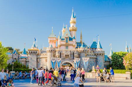 Sleeping Beauty Castle at Disneyland Park. Redactioneel