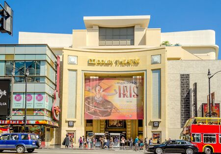 at the theater: Dolby Theatre in Hollywood Boulevard, Los Angeles Editorial