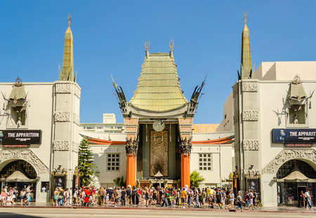 hollywood boulevard: Chinese Theatre in Hollywood Boulevard, Los Angeles Editorial