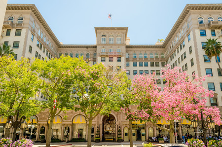 beverly hills: The Beverly Wilshire Hotel in Beverly Hills, California Editorial