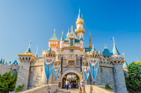 Sleeping Beauty Castle at Disneyland Park. 에디토리얼
