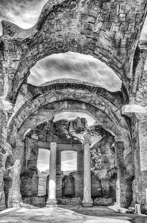 adriana: Roman Ruins inside the Great Baths at Villa Adriana (Hadrians Villa), Tivoli, Italy