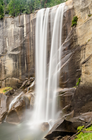 vernal: Long Exposure of the Merced River over Vernal Fall in Yosemite National Park, California, USA