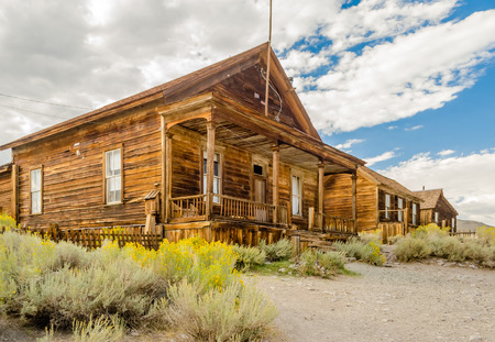 Abandoned House in the Gold Mining Ghost Town of Bodie, State Historic Park in California, USA photo