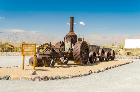 Coal Burning Old Dinah steam tractor at Furnace Creek Ranch in Death Valley, California, USA