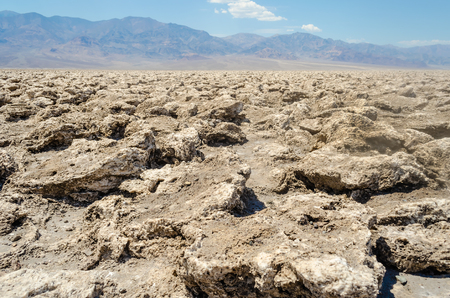 golf of california: The empty salt pan of Devils Golf Course in Death Valley, California, USA