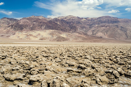 nevada desert: The empty salt pan of Devils Golf Course in Death Valley, California, USA