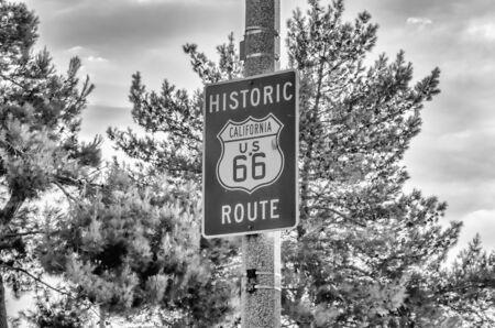 66: Historic Route 66 Sign in California, USA