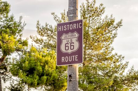 highway 6: Historic Route 66 Sign in California, USA