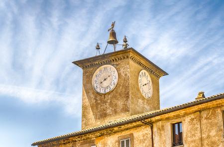 terni: Medieval Maurizio Clocktower in Orvieto, Italy Editorial
