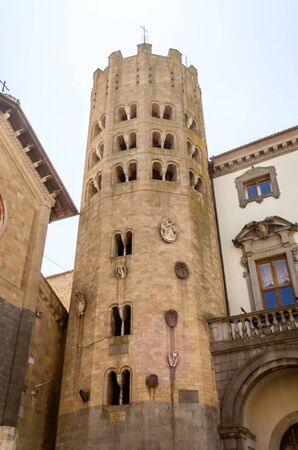 terni: Medieval Tower at the Church of St. Andrea, Orvieto, Italy
