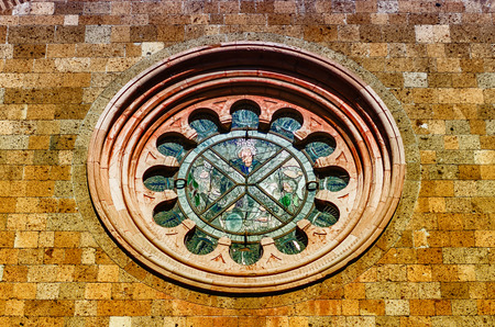 Rose Window of the Church of St. Andrea, Orvieto, Italy