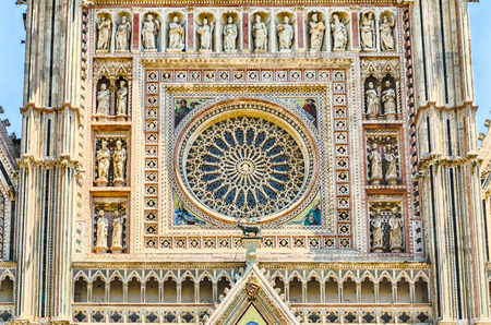 terni: Rose Window, detail of the Orvieto Cathedral, Italy