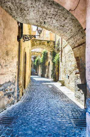 tuscia: Ancient Alley in the medieval town of Orvieto, Italy