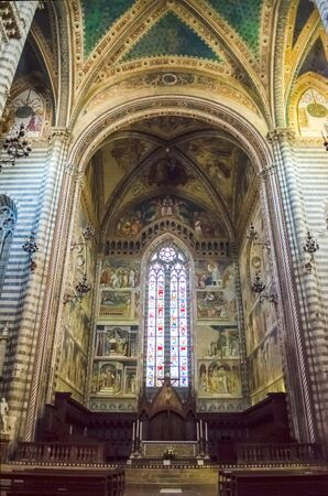 orvieto: Interiors of the Medieval Gothic Cathedral of Orvieto, Italy Editorial