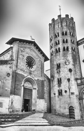 terni: Medieval Church and Tower of St. Andrea, Orvieto, Italy Stock Photo