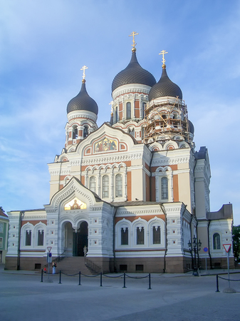alexander: The Russian Orthodox Alexander Nevsky Cathedral in Toompea, Tallin, Estonia Stock Photo