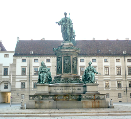 franz: Monument to Holy Roman Emperor Francis II, in Vienna, Austria. Editorial