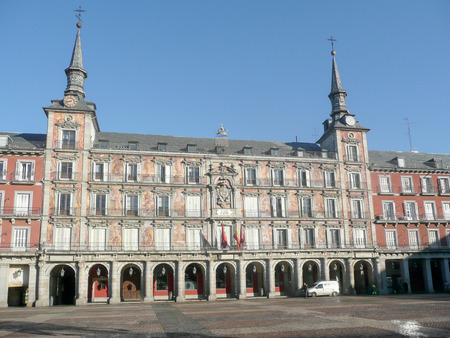 Plaza Mayor, one of the main landmarks in Madrid, Spain