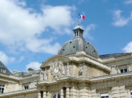 jardin de luxembourg: The Luxembourg Palace on a sunny day, Paris, France Editorial