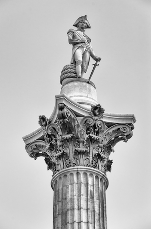 nelson: Nelson Statue at Trafalgar Square, London, UK