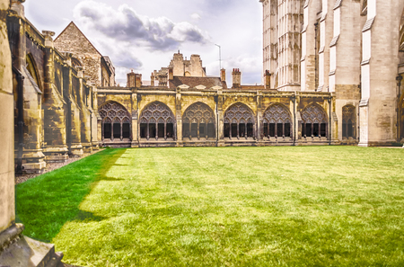 buttresses: Cloister of the Westminster Abbey, London, UK