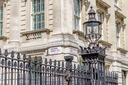 david brown: Downing Street Sign, London, UK Stock Photo