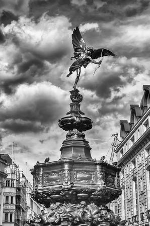 eros: Eros Statue at Piccadilly Circus, London, UK Stock Photo