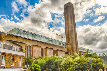 The Tate Modern Gallery, disused bankside power station, London, UK