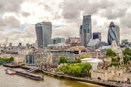 Skyline London City, moderne wolkenkrabbers in het financiële district van Londen