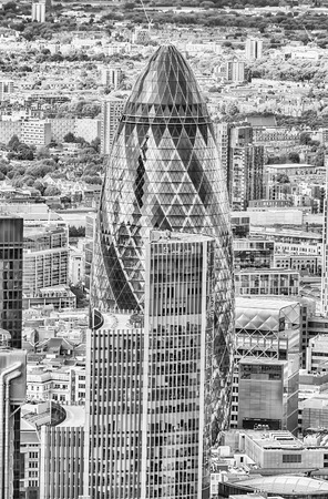gherkin: The iconic Skyscraper called Gherkin Building, London, UK Stock Photo
