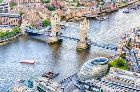 historical landmark: Tower Bridge, Historical Landmark in London, UK Stock Photo