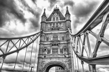 uk: Tower Bridge, Historical Landmark in London, UK Stock Photo