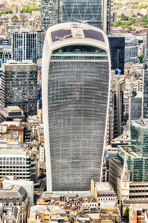 talkie: 20 Fenchurch Street, aka Walkie Talkie Tower, iconic skyscraper in London, UK Stock Photo