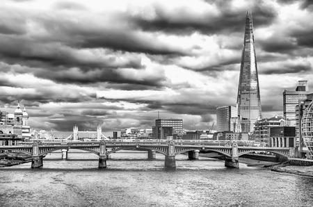 shard: River Thames, Bridges and The Shard, London, UK