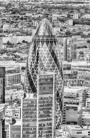 gherkin: The iconic Skyscraper called Gherkin Building, London, UK Editorial