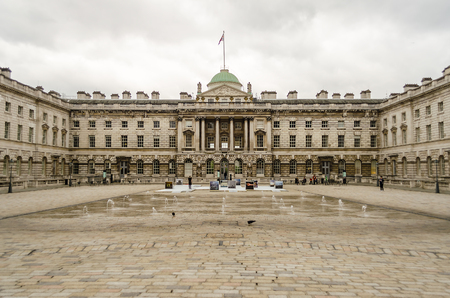 victorian architecture: Somerset House, Victorian Architecture, Strand, London, UK Editorial