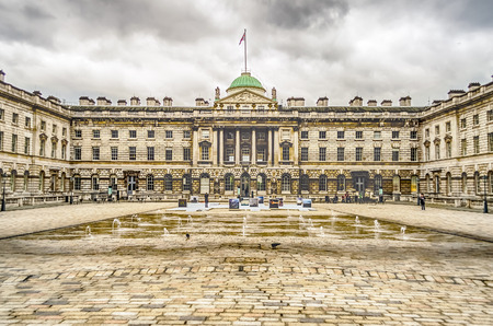 somerset: Somerset House, Victorian Architecture, Strand, London, UK Editorial