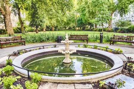 georges: Fountain in St Georges Square, London, UK