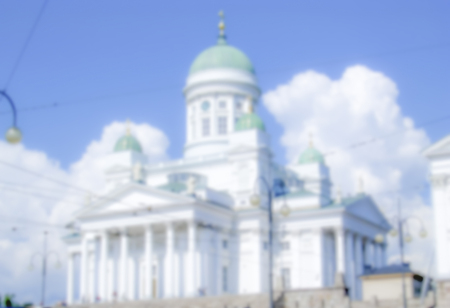 engel: Defocused Background of the Cathedral of Helsinki, Finland. Intentionally blurred post production
