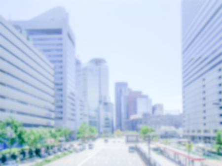 intentionally: Defocused generic background of Osaka, Japan. Intentionally blurred post production for bokeh effect
