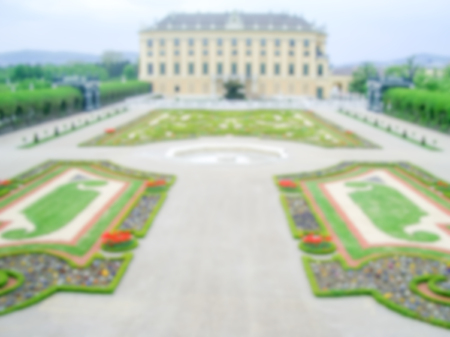 schloss schoenbrunn: Defocused Background with Schonbrunn Palace in Vienna, Austria. Intentionally blurred post production for bokeh effect Editorial