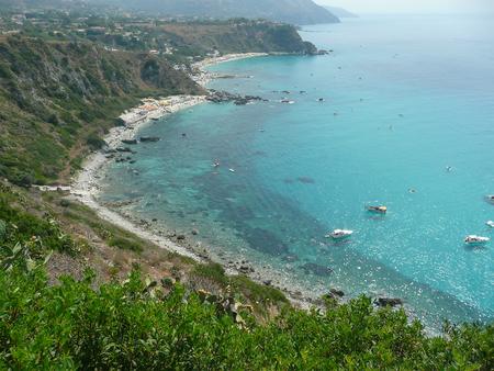 tyrrhenian: Aerial View of the Coastline at Capo Vaticano on the Tyrrhenian Sea, Italy