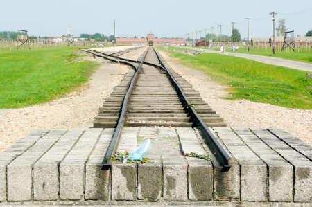 oswiecim: Auschwitz Birkenau a former Nazi extermination camp near Oswiecim in Brzezinka, Poland