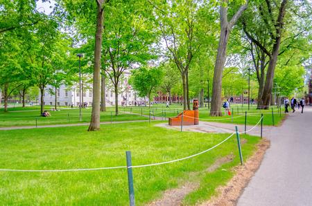 Binnen Harvard University Campus, Cambridge, USA Stockfoto - 50308638