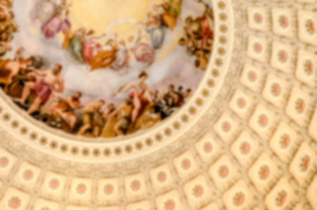 rotunda: Defocused background of US Capitol Rotunda in Washington DC, USA. Intentionally blurred post production for bokeh effect