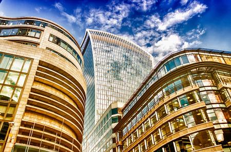 financial district: London City Skyline, Modern Skyscrapers in London financial district, UK Stock Photo